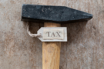 word tax and hammer
