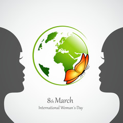 international womans day erdkugel