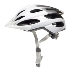 White Bicycle Helmet on White background