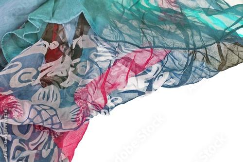 Chiffon Wavy Colorful Border Background - 79157026