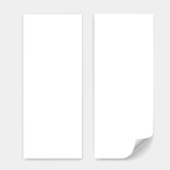 Blank trifold paper sheet