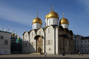 The Cathedral of the Dormition in autumn day in Moscow