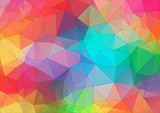 Abstract 2D triangle colorful background