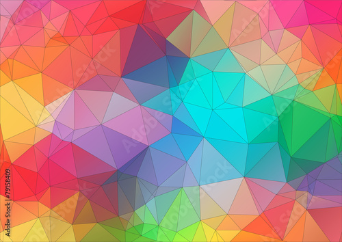Fotobehang Geometrische Achtergrond Abstract 2D triangle colorful background