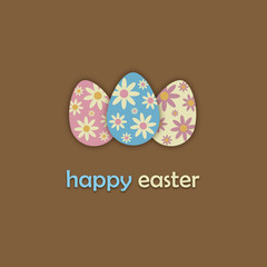 """HAPPY EASTER"" Card (icon symbol design decorated)"