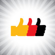 Concept vector graphic - social media like hand icons ( signs )