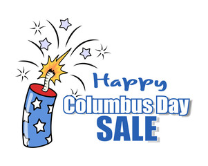 Columbus Day Sale Offer Bomb Vector