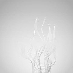 Smoke or abstract flames vector background
