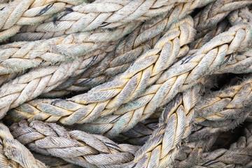 Dark gray nautical rope, background texture