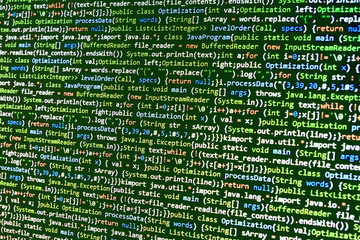 Programming code script abstract screen of software developer.