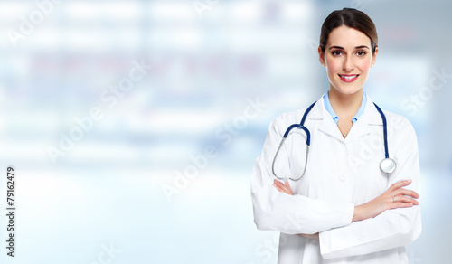 Medical doctor woman. - 79162479