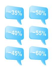 Discount speech bubbles. Part two. Vector illustration