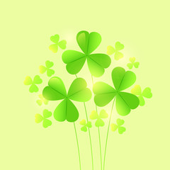 St. Patrick's Day Background with shamrock leaves. EPS 10