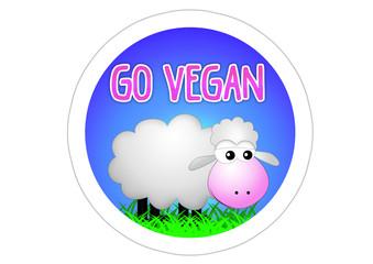 Go Vegan - Aufkleber - Sticker