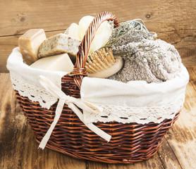 Bodycare Products in a Wicker Basket