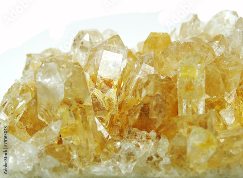 Canvas Edelsteen citrine geode geological crystals