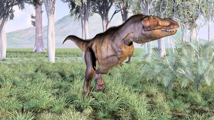 dinosaure en vadrouille