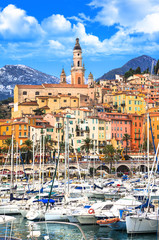Menton - beautiful costal town in south of France