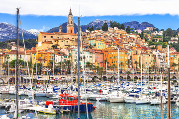Menton - colorful pretty town in south of France