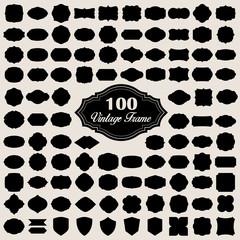 Set of 100 blank vintage frame ( badges and labels)