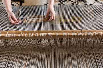 Hungarian homespun weaving.