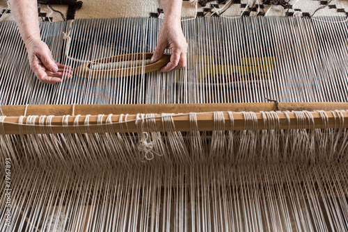 Hungarian homespun weaving.