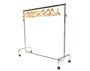 Basic adjustable garment clothing rack with hangers