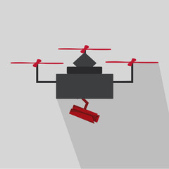 drone in black and red
