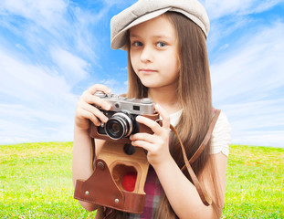 child photographer outdoors
