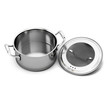 Leinwandbild Motiv Stainless steel pan for cooking with the lid open