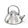 Teapot from stainless steel on a white background - 79170260