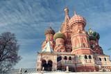 Fototapeta Moscow Kremlin Cathedral winter landscape embankment