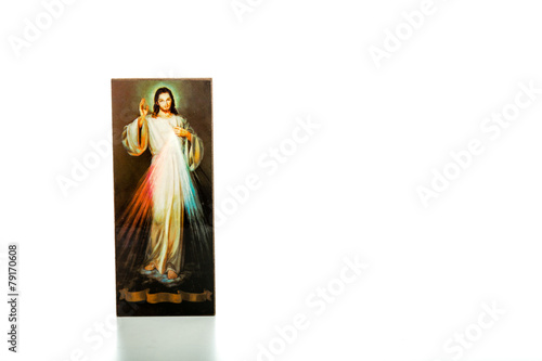 Merciful Jesus, I trust in You image on white isolated icon - 79170608