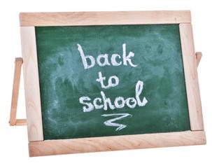 dirty green schoolboard in wooden frame