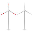 wind turbine isolated vector - 79171224