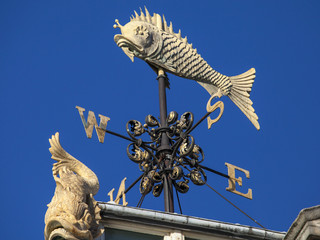 Fish Weather Vane at Old Billingsgate Fish Market in London