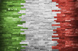 Italian Flag in the wall building - 79172019