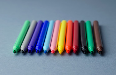 Colorful magic markers