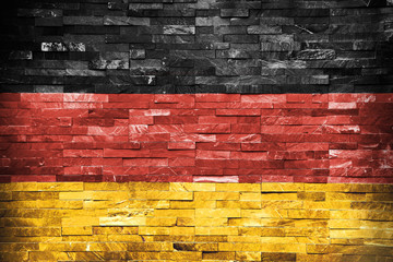 Austerity Germans Flag painted on wall
