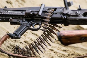 Caricatore a nastro di una mitragliatrice calibro 50