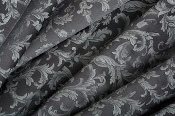 Damask, wavy black tapestry pattern background