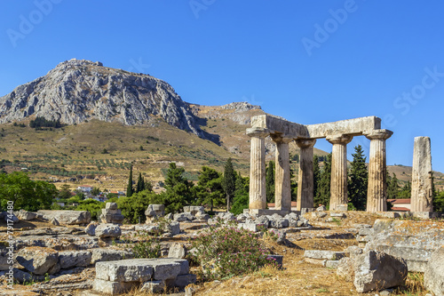 Temple of Apollo in ancient Corinth, Greece - 79174480