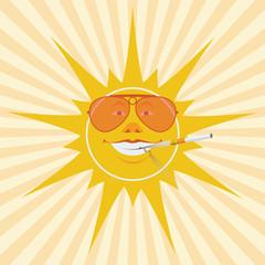 sun and cigarette