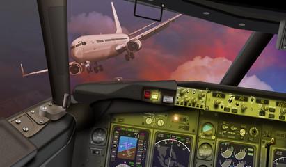 Cockpit, Instrumente.Passagierflugzeug  Mayday