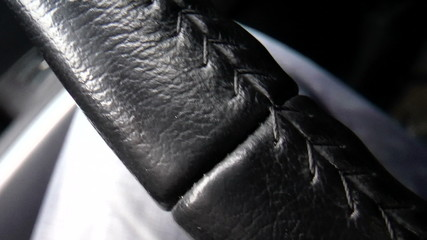 The video shows Car interior. Car steering wheel