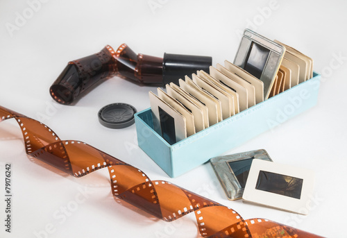 Photographic film and slides of old times - 79176242
