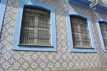 Kacheln am Haus in Sao Luis