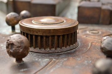 Bronze model of Mestrovic pavilion, Zagreb, Croatia