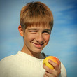 Teenager with an Apple