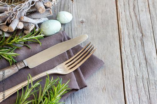 Papiers peints Table preparee Easter table setting